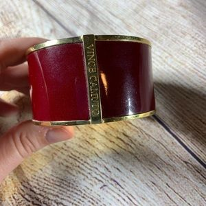 Vince Camuto red cuff bracelet